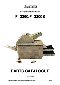 Part List Kyocera F−2200