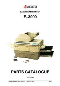 Deel Lijst Kyocera F−3000