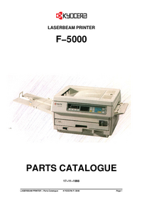 Part List Kyocera F−5000