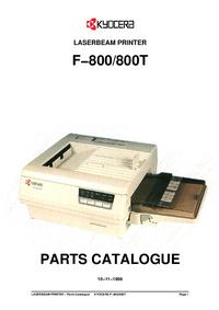 Liste des pièces Kyocera F-800T