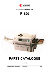 Part List Kyocera F−820