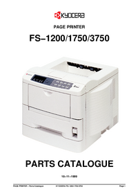 Part List Kyocera FS−1200