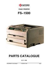 Ersatzteil-Liste Kyocera FS−1500