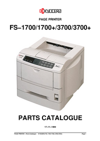 Part List Kyocera FS−1700