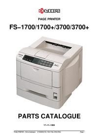 Ersatzteil-Liste Kyocera FS-3700+