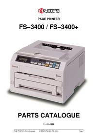 Lista de parte Kyocera FS−3400