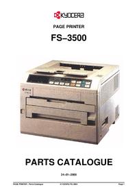 Part List Kyocera FS−3500
