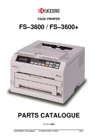 Part List Kyocera FS−3600
