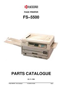 Parte de lista Kyocera FS−5500