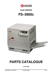 Part List Kyocera FS−5900c