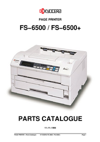 Part List Kyocera FS−6500