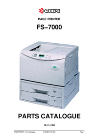 Part List Kyocera FS−7000