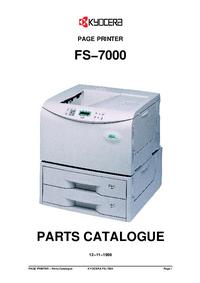 Lista części Kyocera FS−7000