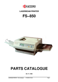 Part List Kyocera FS−850