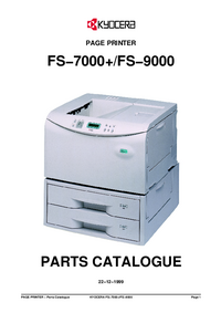 Part List Kyocera FS−7000+