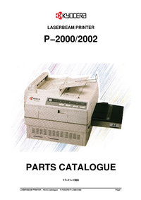 Part List Kyocera P−2000