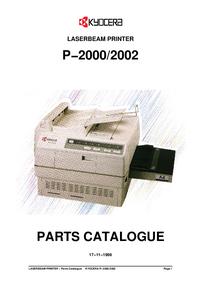 Parte de lista Kyocera P-2002
