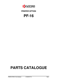 Part List Kyocera PF-16