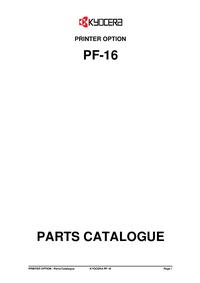 Ersatzteil-Liste Kyocera PF-16