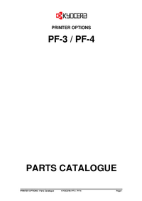 Part List Kyocera PF-3