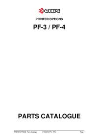 Liste des pièces Kyocera PF-4