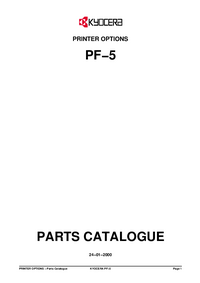Parte de lista Kyocera PF−5
