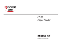Part List Kyocera PF-60
