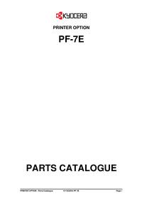 Parte de lista Kyocera PF-7E