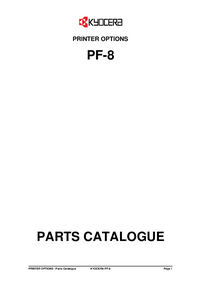 Part List Kyocera PF-8