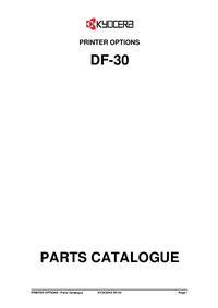Part List Kyocera DF-30