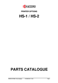 Liste des pièces Kyocera HS-1