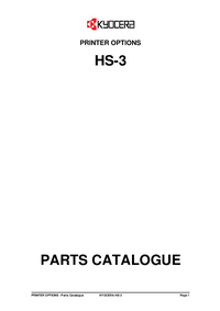 Part List Kyocera HS-3