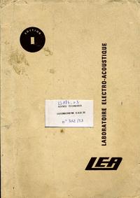 Service et Manuel de l'utilisateur LEA EHD 35