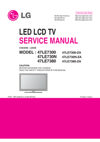 manuel de réparation LG 47LE7380-ZA