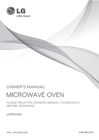 User Manual LG LCRT1510SV