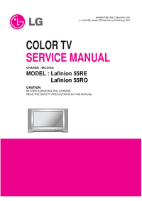 Manual de servicio LG Lafinion 55RQ