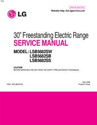 Manual de serviço LG LSB5682SS