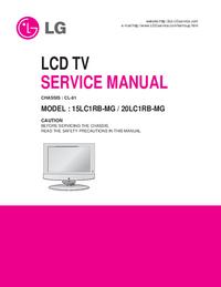 Manuale di servizio LG 15LC1RB-MG