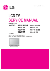 manuel de réparation LG 32LC41/4R-ZA