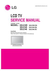 Manual de servicio LG 32LC45