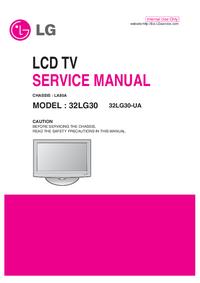 Manual de serviço LG 32LG30-UA