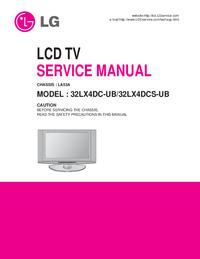 Service Manual LG 32LX4DC-UB