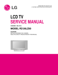 Manuale di servizio LG RZ-26LZ50