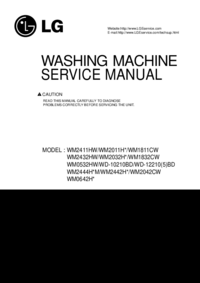 Manual de servicio LG WM2432HW