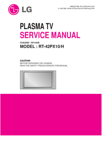 Service Manual LG RT-42PX10/H