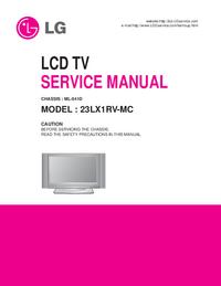 Manual de serviço LG 23LX1RV-MC