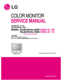 Руководство по техническому обслуживанию LG StudioWorks 500G