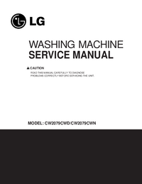 Servicehandboek LG CW2079CWD
