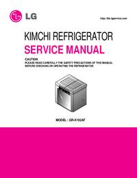 Руководство по техническому обслуживанию LG GR-K192AF