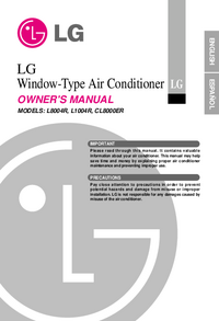 User Manual LG CL8000ER